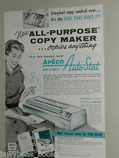 1956 Apeco photocopier ad, Dial-a-Matic Auto-Stat