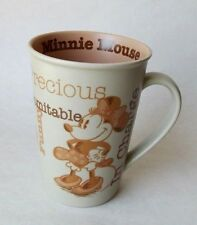 Disney MINNIE MOUSE MUG Sweet, Precious, In Charge, IndomItable... Tan & Browns