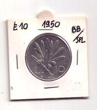 Repubblica Italiana 10 lire 1950  Olivo  Italma   BB/SPL     (m859)