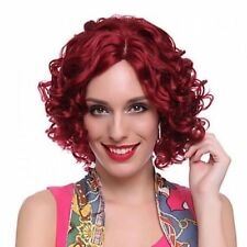 2017 Cos red short curly  cosplay full Heat-Resistant  wig