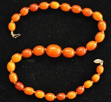 Antique +100 Years Old Butterscotch Amber Necklace 29.5 grams ----- 32 Pictures
