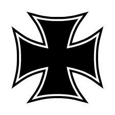 CROCE di Malta Amalfi Cross Adesivo Decalcomania Grafica in Vinile Label v5 Nero