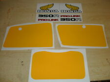 1983-1984 Honda XR 350 Decal Kit AHRMA Gas Tank, Swingarm and Number Plates