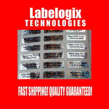 100 SMALL HOLOGRAM WARRANTY VOID SECURITY LABELS STICKERS GR8 4 XBOX PS3 iPhone