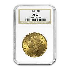 $20 Liberty Double Eagle Gold Coin - Random Year - MS-62 NGC - SKU #120