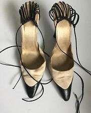 Rare and highly unusual Chanel Vintage Shoes, Bird Cage Heels Size 39.5