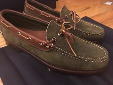 Ralph Lauren Collection Rancourt Boat Loafer Shoes Mens US11 Made in USA Polo