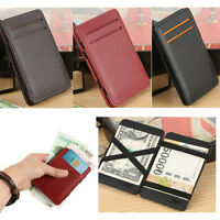 NEW Mini Neutral Magic Bifold Leather Wallet Card Holder Wallet Money Clip Purse