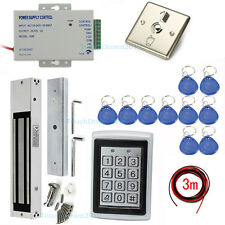 Metal RFID Entry Door Lock Access Control Systems Kits with 600lbs Magnetic lock