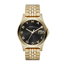 BRAND NEW MARC BY MARC JACOBS MBM3315 BLACK SUNRAY DIAL GOLD TONE WOMEN'S WATCH