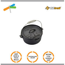 OZtrail 4.5 Quart Cast Iron Camp Oven Cooking Camping Outdoors Camp Fire