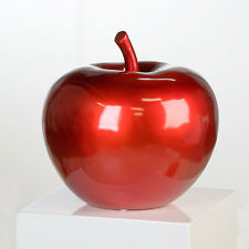 "Casablanca Exclusive Skulptur Kunstobjekt "" Apple"" rot metallic B 28x26 Poly"