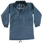 NEW MENS QUILTED JACKET COAT WATERPROOF WINDPROOF HOOD WARM CHECK LINING S-3XL