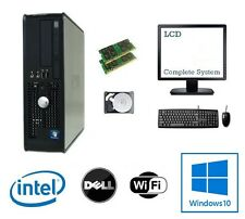 Dell Dual Core 8GB 1TB - 1.5TB HDD Windows 10 Computadora De Escritorio Pc-Paquete Completo