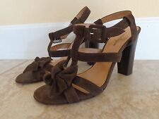 NANETTE LEPORE brown suede sandal size 9.5 made in ITALY