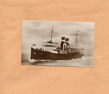 Real photo S.S  Manxman Isle of Man Steam Packet Company unposted 1904-49 art