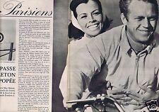 Coupure de presse Clipping 1963 Steve Mac Queen  (7 pages)