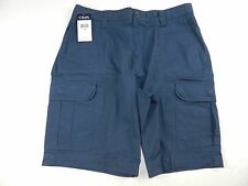 NEW $60 MENS SHORTS = CHAPS by Ralph Lauren = SIZE 33 = blue cargo cotton = #p78