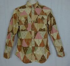Polo Ralph Lauren Patchwork Pearl Snap Button Front LS Shirt ~Classic Western~ S