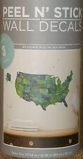 wall sticker united states of america usa state names peel n stick 26 in wide
