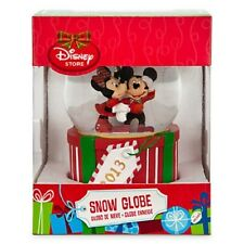 DISNEY MICKEY AND MINNIE 2013 CHRISTMAS SNOWGLOBE--NEW