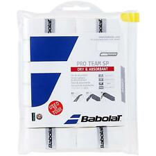 BABOLAT Pro Team SP-Bianco (Conf. da 12) Overgrip Tennis - 0,55 mm-Gratis P&P