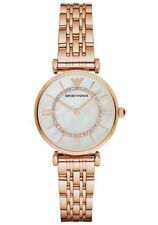 EMPORIO ARMANI AR1909 LADIES ROSE GOLD GIANNI T-BAR WATCH
