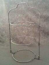 Chrome Finish 3 Tier Folding Tea Shop Cake Plate Stands x 6