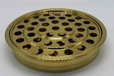 """Brass Tone ---Stainless Steel Communion Tray - 12.2"""" - Holds 40 - NEW"""