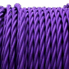 PURPLE TWIST vintage style textile fabric electrical cord cloth cool cable 1m