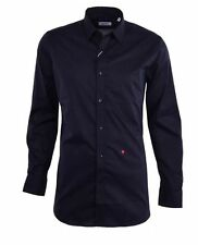 MOSCHINO Black Long Sleeve Cotton Button Down Dress Shirt Mens Small 15 (38) NEW