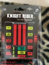 Knight Rider KITT  usb car charger which lights up  and  has the  Voice Of KITT