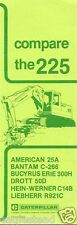 Equipment Brochure - Caterpillar - 225 - Vs Competition - Excavator 1978 (E1102)