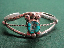 Southwestern Sterling Silver and Turquoise & Hand Crafted Bracelet 19.3 Grams