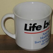 Life Begins At 40 Coffee Mug Age Recycled Paper Products Funny Novelty Cup