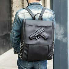 men and women fashion backpack with pistol ungrave design ,fast shipping