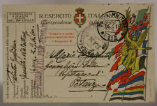 POSTA MILITARE 112 14.4.1918 FRANCHIGIA (TIMBRO DI REPARTO) #XP457A