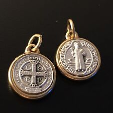 �� St Benedict TINY Medal - Catholic Exorcism - BLESSED BY POPE - San Benito