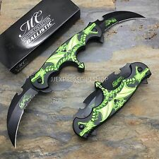 MC MASTER COLLECTION Dual Green Dragon Blade Folding Pocket Knife MC-A004GN