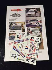 DECALS 1/24 TOYOTA COROLLA LOEB RALLYE SAN REMO ITALIE 2000 WRC RALLY HASEGAWA