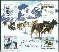 NIGER 2014 SLED DOGS SHEET MINT NH