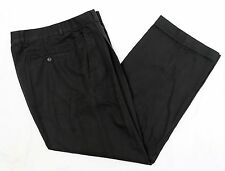 BROOKS BROTHERS 1818 Sz 30x27 Black Pleated Cuffed Chinos Very Nice