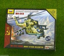 Zvezda MI-24V HIND Soviet Attack Helicopter Hot War 1/144 scale 7403