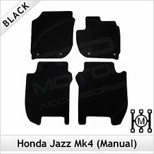 Honda Jazz Manual Mk4 2015 onwards Tailored Fitted Carpet Floor Mats BLACK