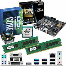 Intel Core i5 6600k 3.5ghz & ASUS h110m-a & 16gb ddr4 2133 Bundle Crucial