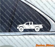 2X Lifted 4x4 outline stickers - for Nissan Frontier / Navara king cab D40 2004+