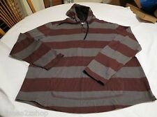 Hurley hoodie hoody burgundy grey shirt long sleeve hooded button medium Men's