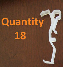 """Qty 18 of 2.5 Inch Valance Clips For Horizontal Faux & Wood Blinds Parts 2 1/2 """""""