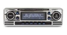 Caliber RMD120BT Chrome Classic Car Retro Stereo FM USB SD Aux Bluetooth A2DP