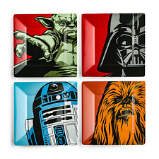 STAR WARS CLÁSICO MELAMINA PLATO SET 4 PIEZAS DARTH VADER YODA MASTICABLE